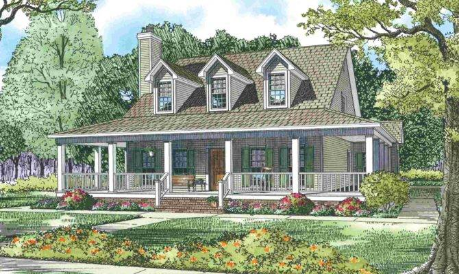 Old Farmhouse Plans Porch