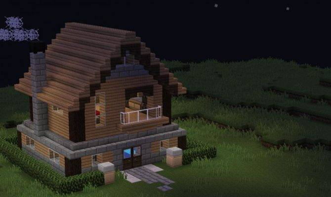Old School Minecraft House Diamonds