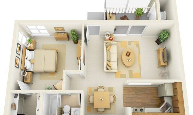 One Bed Room Flooring Plan Exhibits Off Trendy Design Parts Like