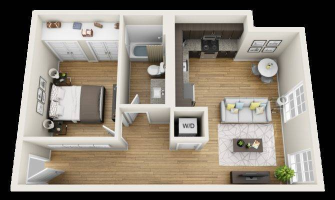 25 Small One Bedroom Apartments For A Stunning Inspiration Home Plans Blueprints