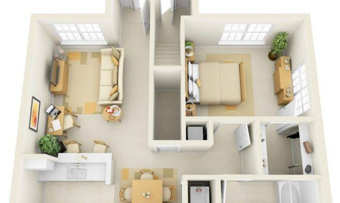 One Bedroom Apartment House Plans Architecture