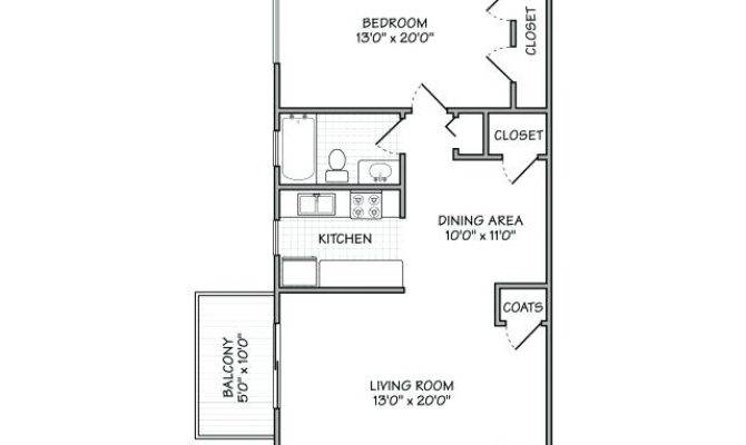 One Bedroom Apartment Layout Best Small