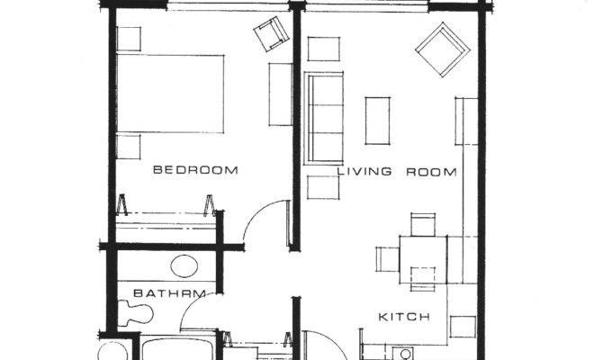 One Bedroom Apartment Open Floor Plans Innovative