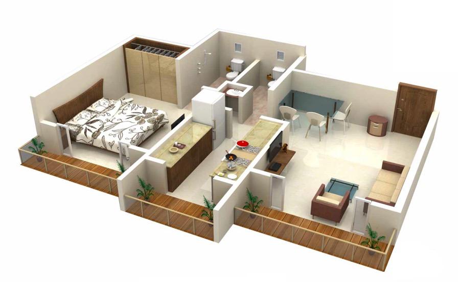 One Bedroom House Apartment Plans Home Plans Blueprints 114682