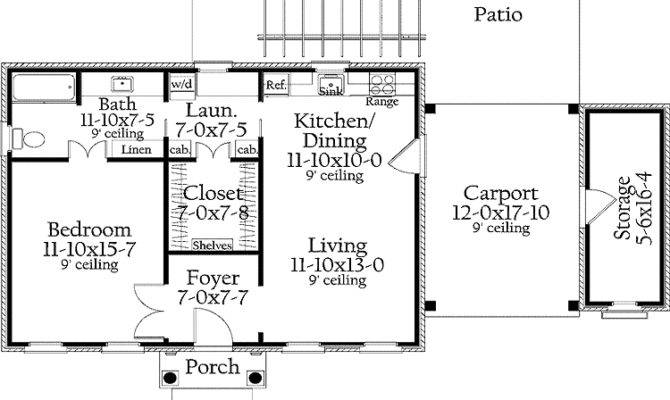 One Bedroom House Plans Home