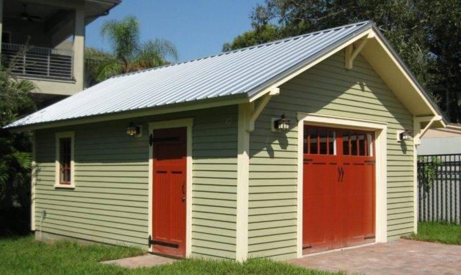 One Car Bungalow Garage Historic Shed Florida