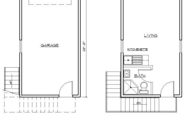 One Car Garage Apartment Plans