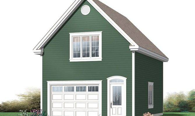 One Car Garage Plans Traditional Plan Loft
