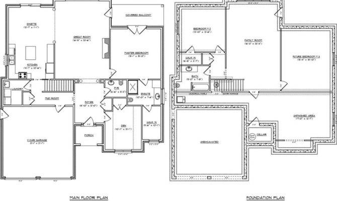 One Floor House Plans Basement Lovely