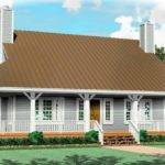 One Half Story Bedroom Bath Country Style House