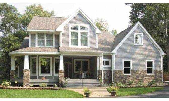 One Half Story Craftsman House Plans Style