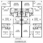 One Level Duplex Craftsman Style Floor Plans Plan