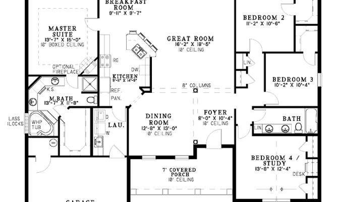 One Level Home Plans Smalltowndjs