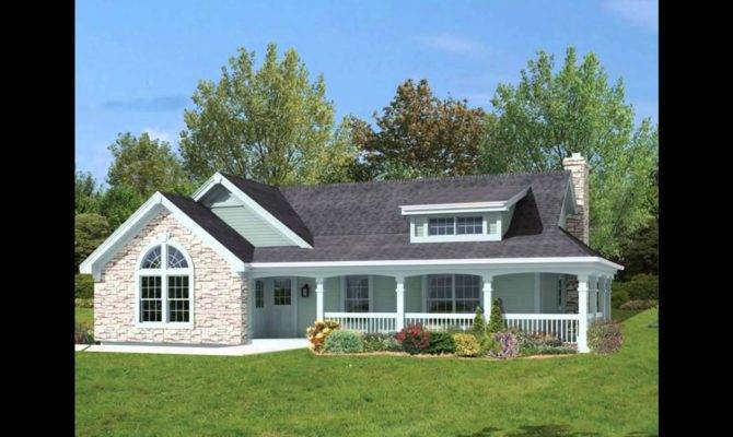 One Level House Plans Front Porch