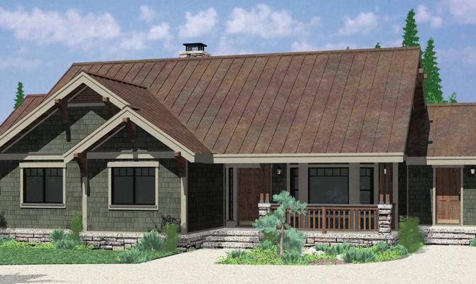 One Level House Plans Single Craftsman
