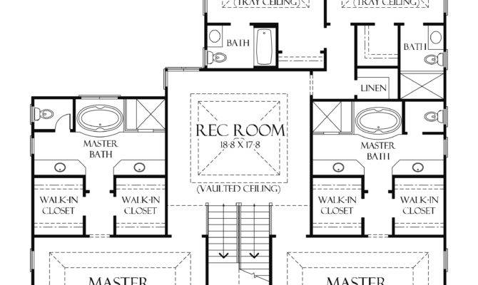 One Level House Plans Two Master Suites Arts Bedroom