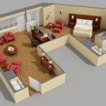 One Room Design Plans Bedroom Luxury Apartment Floor