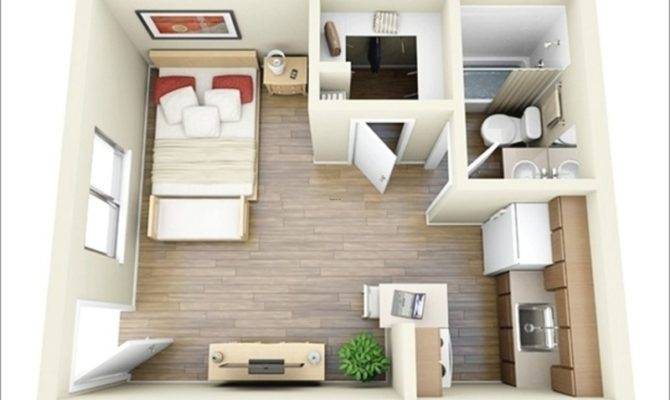 One Room Design Plans Ideas Bedroom Apartment Floor