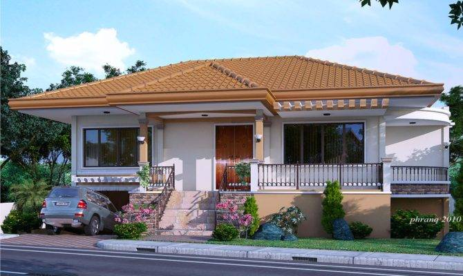 One Storey House Design Basement Garage Pinoy
