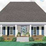 One Story Bedroom Bath Country Style House Plan