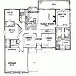 One Story Bedroom House Plans Also