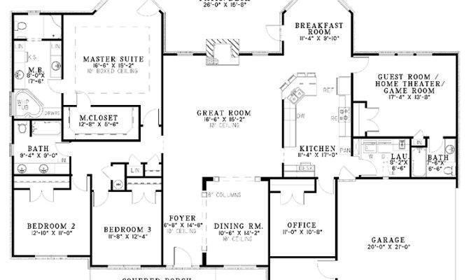 One Story Brick Bungalow Hwbdo House Plan