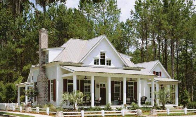One Story House Plans Front Back Porches Escortsea