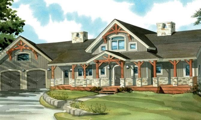 One Story House Plans Porch Basement Home Design Ideas
