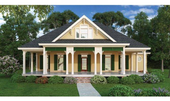 One Story House Plans Wrap Around Porch Eplans Country Cottage