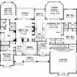 One Story Living Square Feet Bedrooms Eplans House