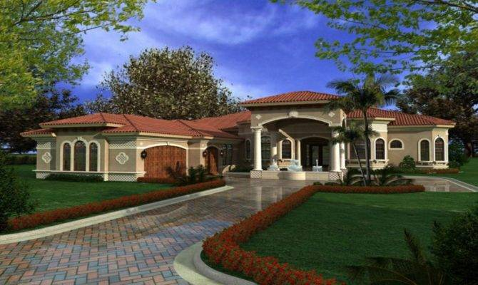 One Story Mediterranean House Plans Houses