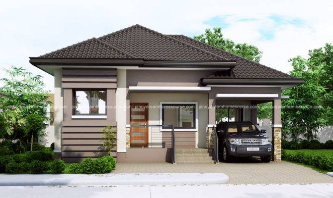 One Story Small Home Plan Car Garage Pinoy