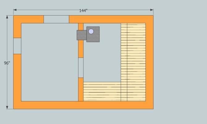 Ontario Sauna Floor Plan Stove Feed Room