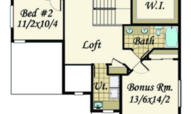 Open Beam House Plan Bungalow Plans Cottage