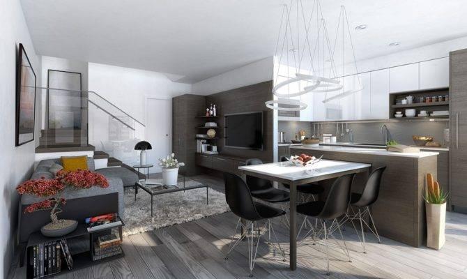 Open Concept Apartment Interiors Inspiration