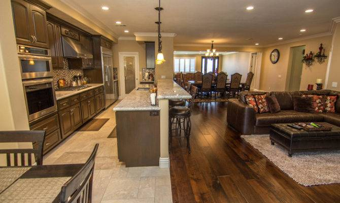 Open Concept Kitchen Dining Room Transitional