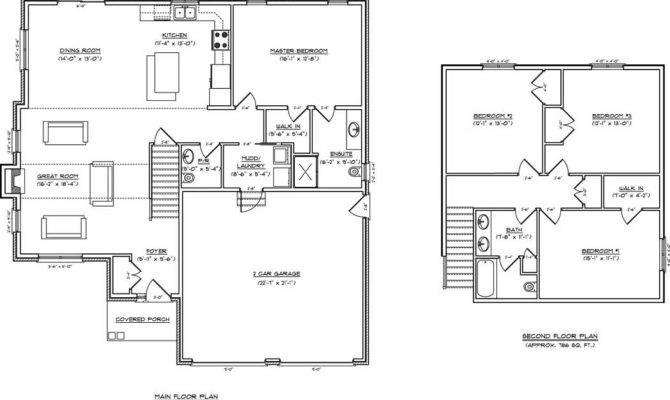 Open Concept Kitchen Living Room Floor Plan Two Storey