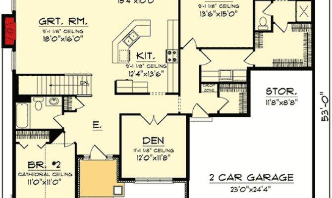 Open Concept Ranch Home Plan Floor Master