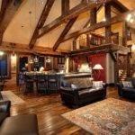 Open Floor Plan Barn Plans Rustic Log Cabin