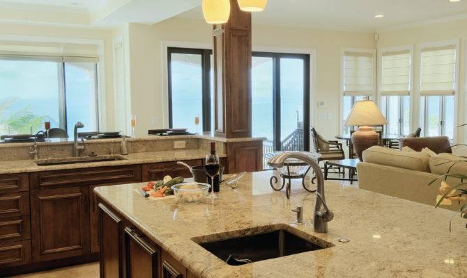 Open Floor Plan Kitchen Living Room Dining