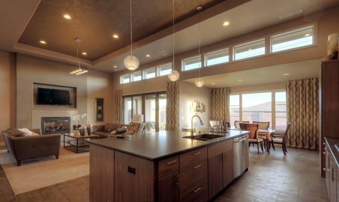 Open Floor Plan Kitchen Living Room Layouts