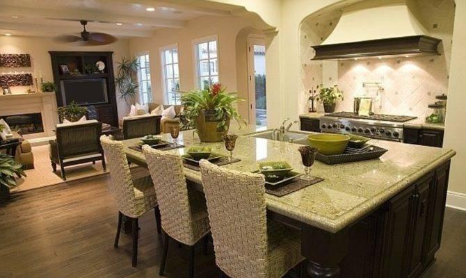 Open Floor Plan Kitchen Room Space