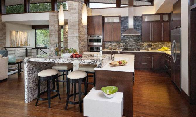 Open Kitchen Design Spacious Cooking Space Concept