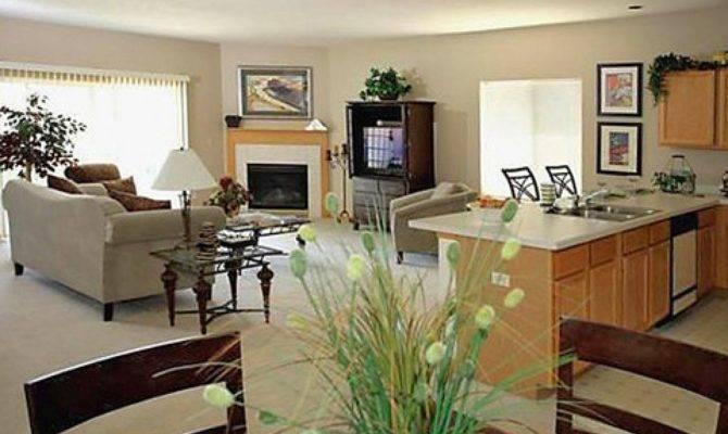 Open Kitchen Dining Living Room Design