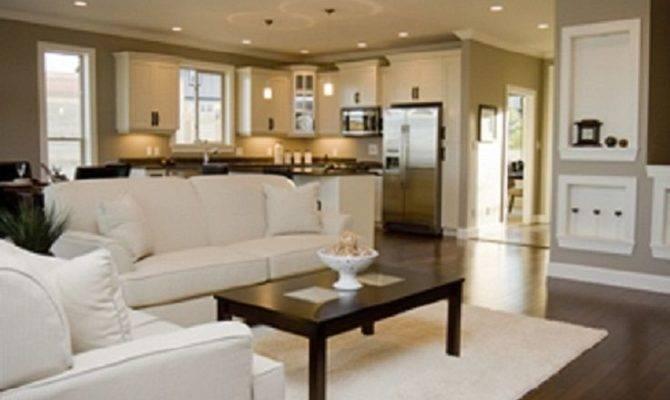 Open Kitchen Floor Plan Nice Living Room