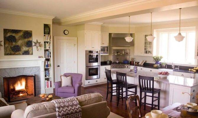 Open Kitchen Into Living Room Concepts Designs