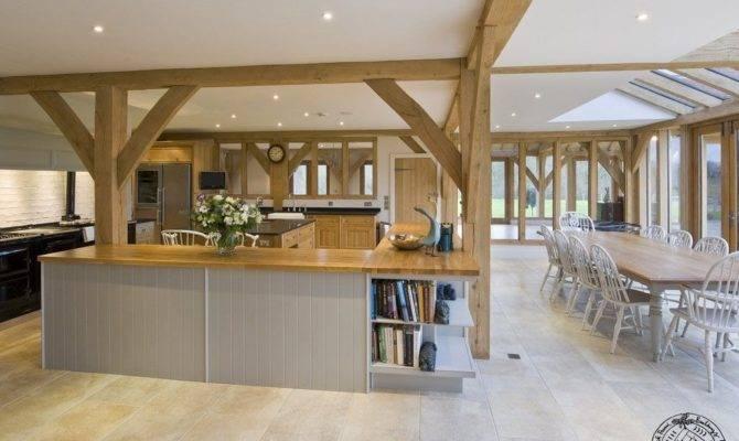 Open Plan Kitchen Dining Room Oak Framed New Build Farmhouse