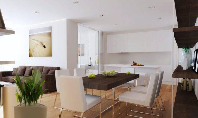 Open Plan Living Room Diner Kitchen Interior Design Ideas