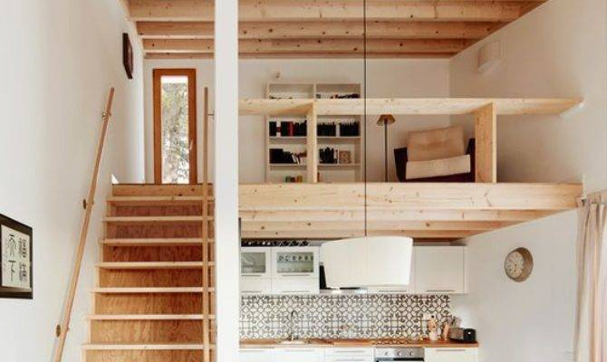 Open Plan Living Space Exposed Wood Structure Wooden