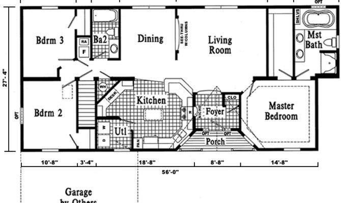 Open Ranch Style Home Floor Plan Plans Love Home Plans Blueprints 50035